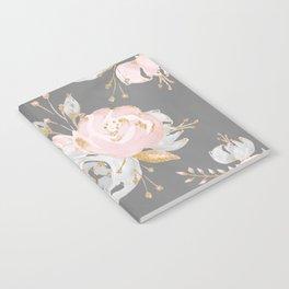 Night Rose Garden Gray Notebook