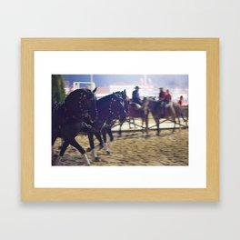 Feira da Golega 2015 3 horses 35 mm Framed Art Print