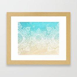 Beach Mandala Framed Art Print
