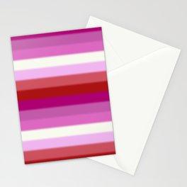 Lesbian Pride Flag v2 Stationery Cards