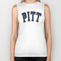 pittsburgh Biker Tanks featuring NCAA - Pittsburgh Panthers by Katieb1013