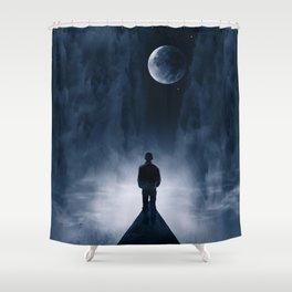 Blue Dream Night Shower Curtain