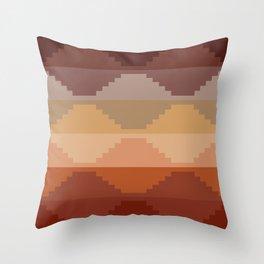 Geometric Aztec II Throw Pillow