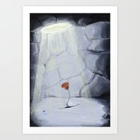 rose rouge Art Print