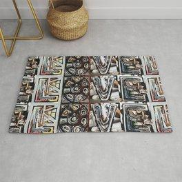 LOVE - Magazine Collage Rug