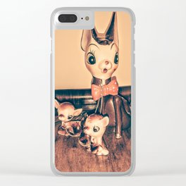 mama fawn and babies Clear iPhone Case
