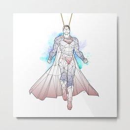 polysuper white Metal Print