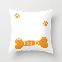 112 Dog Years Old Funny 16th Birthday Puppy Lover print Throw Pillow