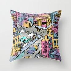 Tiny Town Throw Pillow