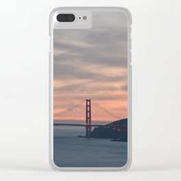 Golden Gate Bridge at Sunset Clear iPhone Case