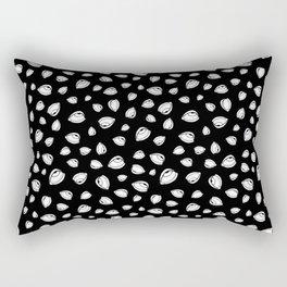 Eyeroll on Repeat Black Rectangular Pillow