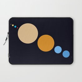 Planets To Scale (Diagonal) Laptop Sleeve