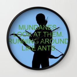 Alec Lightwood - Mundanes Wall Clock