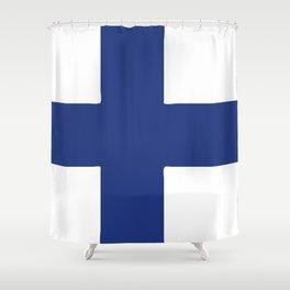 Finland flag emblem Shower Curtain