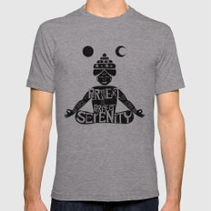 Serenity Tri-Grey LARGE Mens Fitted Tee