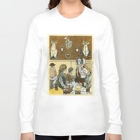 cafe Long Sleeve T-shirts featuring Taxidermy Cafe by CHAR ODEN