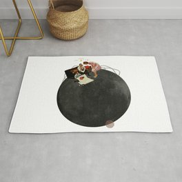 Life on Earth  | Collage | White Rug