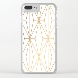 Gold Geometric Pattern Illustration Clear iPhone Case