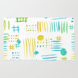 Watercolor geometric abstract pattern Rug