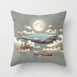 Ocean Meets Sky Throw Pillow