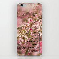 kerouac iPhone & iPod Skins featuring rules of life - jack kerouac  by lissalaine