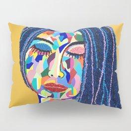 Pop Art woman face colors Fauve Lady 5 rock  Pillow Sham