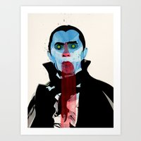 vampire diaries Art Prints featuring Vampire by Alvaro Tapia Hidalgo