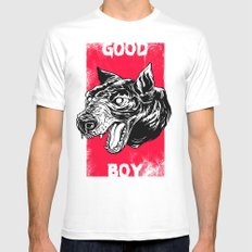 GOOD BOY Mens Fitted Tee White LARGE