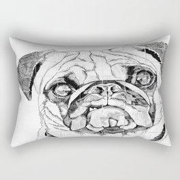 Pugs Not Drugs Rectangular Pillow