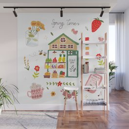 Fruit Shop - pencil hand-painted Wall Mural