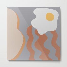 Modern Abstract Breakfast Metal Print
