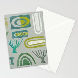 Green bits Stationery Cards