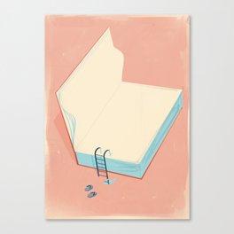 Invite to reading Canvas Print
