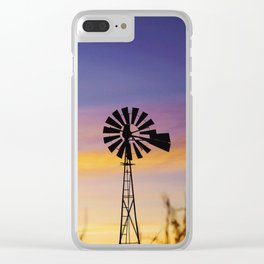 Panhandle Windmill Clear iPhone Case