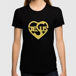 Biblical typography. Christian symbols. Jesus heart. T-shirt