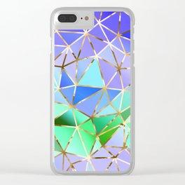 Rainbow Geometric pattern #3 Clear iPhone Case