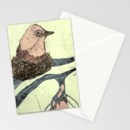 Bird Etching Stationery Cards