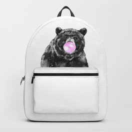 Bubble Gum Big Bear Black and White Backpack