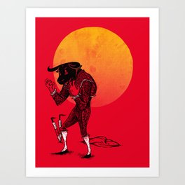 Matador's Dilemma Art Print