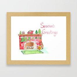 Season's Greetings! Framed Art Print