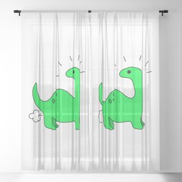 Dino Farts 1 Sheer Curtain