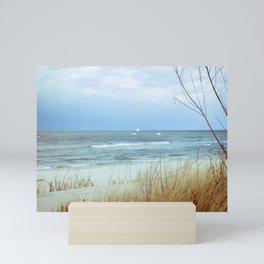 Baltic Windy Beach in Poland Mini Art Print