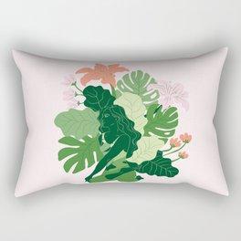 Bharadvaja's Twist with pink background Rectangular Pillow