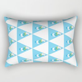 Swimming Polar Bear Triangle Rectangular Pillow