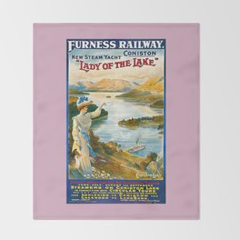 Furness Railway and Lady of the Lake Throw Blanket