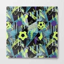 Football. 1 Sports print. Metal Print