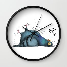 Permanently Exhausted Pigeon Wall Clock