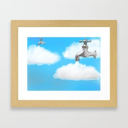 How clouds are formed Framed Art Print