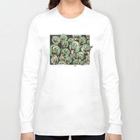 grafitti Long Sleeve T-shirts featuring Green Graffiti Creatures by Squidoodle
