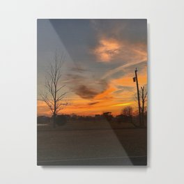 Fall Skies in South Jersey Metal Print